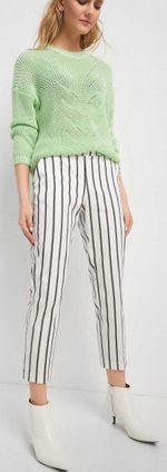 Pantaloni ORSAY Dungi albe 356182