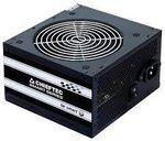 Блок питания ATX 600W Chieftec SMART GPS-600A8, 80+, Active PFC, бесшумный вентилятор 120 мм