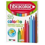 Фломастеры Fibracolor 24 цветов моющиеся