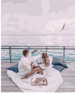 Картина по номерам 40x50 Пикник у моря VA1540