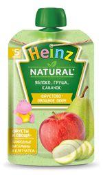 Пюре Heinz яблоко, груша, кабачок с 6 месяцев, 90г