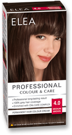 Краска для волос,SOLVEX Elea, 138 мл., 4.0 - Шатен