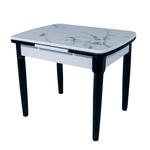 Раздвижной стол DT A56 черный с белым