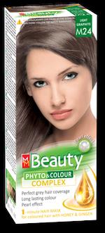 Краска для волос,SOLVEX MM Beauty, 125 мл., M24 - Светлый графит