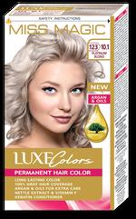 Краска для волос,SOLVEX Miss Magic Luxe Colors, 108 мл., 123 (10.1) - Блондин платиновый