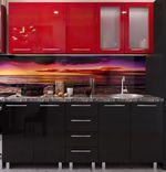 Кухонный гарнитур Bafimob Lena (High Gloss) 1.6m Red/Black