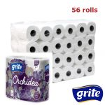 GRITE - Туалетная бумага ORCHIDEA GOLD 3 слоя 4 рулона 21,25м 14/14
