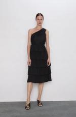 Платье ZARA Чёрный 8741/227/800