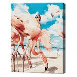 Фламинго на пляже, 40х50 см, картина по номерам Артукул: GX38393