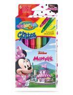 Набор mаркеры с глиттером 6 цветов - Colorino Disney Minnie Mouse