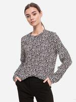 Блуза TOM TAILOR Черный с принтом 1023399 25632