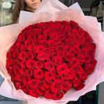 Букет из 101 красной розы 70-80 см