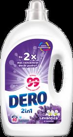 Жидкое моющее средство Dero 2в1 Лаванда и Жасмин, 2 л.
