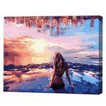 Девушка на побережье, 40х50 см, картина по номерам Артукул: GX34560