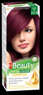 Краска для волос,SOLVEX MM Beauty, 125 мл., M14 - Вишнево-красный