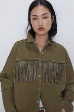 Куртка ZARA Хаки 3305/250/505