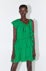 Платье ZARA Зеленый 9878/166/500