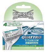 Сменные лезвия для бритвы Quattro Titanium Sensitive, 4 шт.