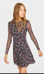 Платье Stradivarius Черный в цветочек 6389/655/147