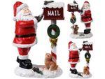 Сувенир Дед Мороз почтальон 21X15X9cm, керамика, 2 дизайна