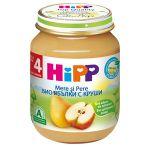 Пюре Hipp из яблок и грушами (4+ мес.), 125 г