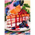 Рисование по номерам на холсте 30x40 Yтренний десерт