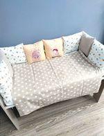 Комплект постельного белья в кроватку Pampy Bej Stars & milk