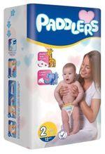 Подгузники Paddlers Mini №2 Mini 3-6kg 12