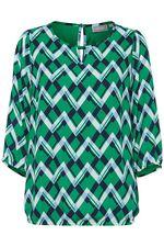 Блуза Fransa Зеленый в клетку 20605585 fransa