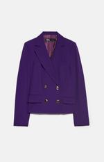 Пиджак ZARA Фиолетовый 2167/789/611