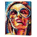 GX33905 Красивая в очках Картина по номерам 40x50 cm