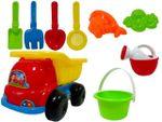 Набор игрушек для песка в машине средний 9ед, 16X26cm