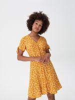 Платье HOUSE Желтый с принтом xm135