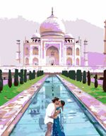 Поцелуй в Тадж-Махале, 35х45 см, картина по номерам