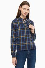 Блуза Tom Tailor Темно синий в клетку tom tailor 1014125