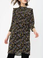 Платье TOM TAILOR Черный в цветочек 1014913 20410