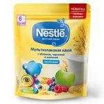 Каша мультизлак яблоко-черника-малина с молоком Nestle, с 6 месяцев, 220г