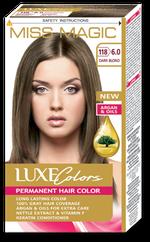 Краска для волос,SOLVEX Miss Magic Luxe Colors, 108 мл., 118 (6.0) - Тёмно-русый