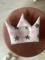 Подушечка корона с розовыми звездочками