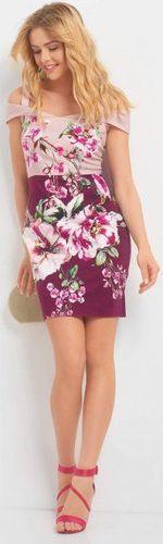 Платье ORSAY Розовый в цветочек