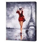GX4338 Одна в Париже Картина по номерам 40х50 см