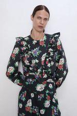 Блуза ZARA Черный в цветочек 7998/076/800