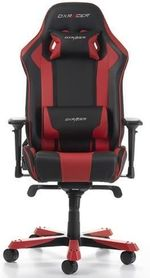 Gaming Chair DXRacer King GC-K06-NR, Black/Red, User max loadt up to 150kg / height 160-195cm