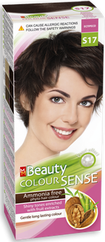 Vopsea p/u păr, SOLVEX MM Beauty Sense, 125 ml., S17 - Expresso