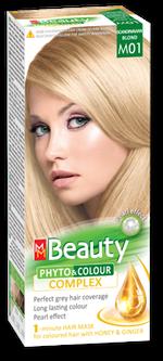 Vopsea p/u păr, SOLVEX MM Beauty, 125 ml., M01 - Blond deschis