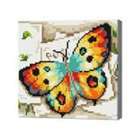 Яркая бабочка, 20x20 см, алмазная мозаика