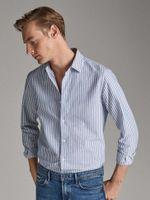 Рубашка Massimo Dutti Синий в полоску 0194/144/403