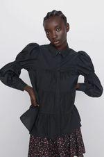 Блуза ZARA Чёрный 8504/201/800