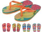 Тапочки летние (въетнамки) детские цветные, размер 28-35