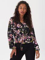 Блуза HOUSE Черный в цветочек